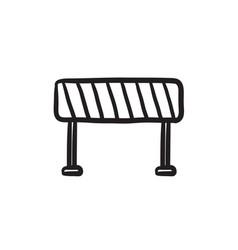 Road barrier sketch icon vector