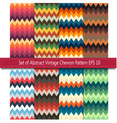 Set of abstract vintage chevron background eps10 vector