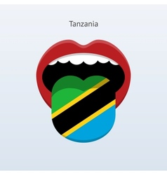 Tanzania language abstract human tongue vector
