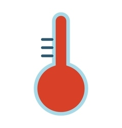 Thermometer temperature vector image