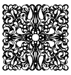 Square mono color ornament with stylized drop vector