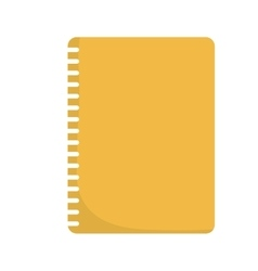 Notebook yellow office school icon graphic vector