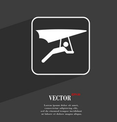 Hang-gliding symbol flat modern web design with vector