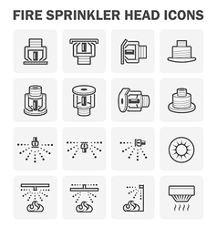 Fire sprinkler icon vector
