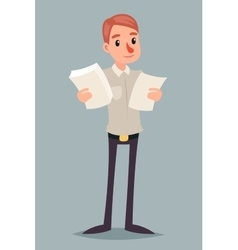 Choice decision making businessman character icon vector