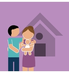 Family home relationship vector