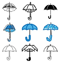 icons umbrella vector image