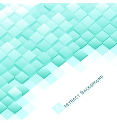 Abstract background with blue square blocks vector image