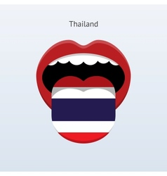 Thailand language abstract human tongue vector