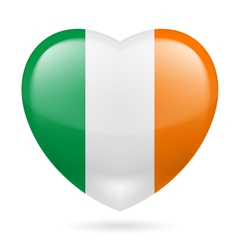 Heart icon of ireland vector