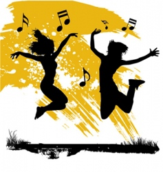 Jumping couple vector