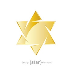Jewelery golden star on white background vector