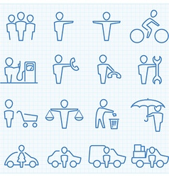 Universal People GUI icons set vector image