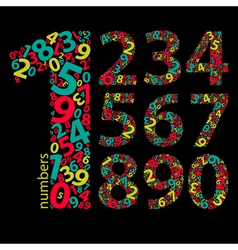 Set of numbers vector