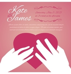 Woman and man hands with heart vector