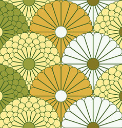 Large chrysanthemum pattern vector