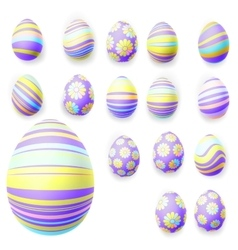 Set of easter eggs eps 10 vector