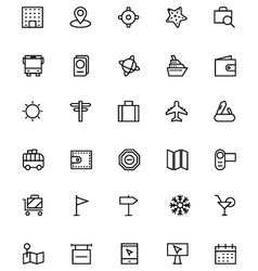 Tourism Line Icons 2 vector image