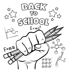 Back to school coloring page vector image
