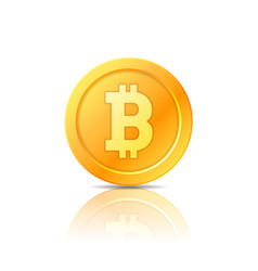 Bitcoin symbol icon sign emblem vector