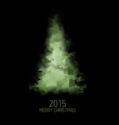 card with abstract green christmas tree vector image vector image