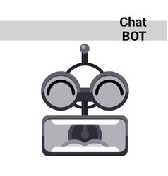 Cartoon robot face screaming cute emotion chat bot vector