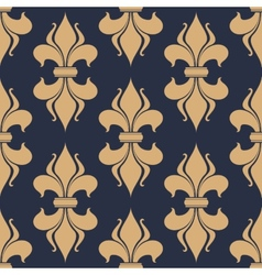 Classic French fleur-de-lis seamless pattern vector image