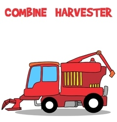 Combine harvester of transportation collection vector