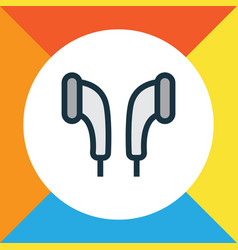 earmuff colorful outline symbol premium quality vector image