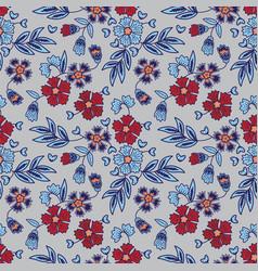 elegant floral batik pattern vector image vector image