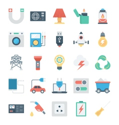 Energy and power icons 4 vector