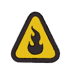 Flammable advert sign vector