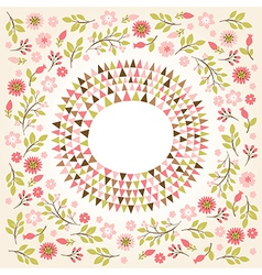 Floral farame vector image vector image