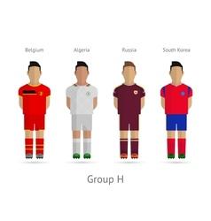 Football teams Group H - Belgium Algeria Russia vector image vector image