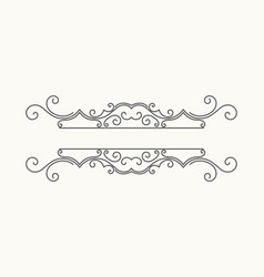 hand drawn decorative border vector image vector image