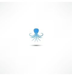 Icon octopus vector