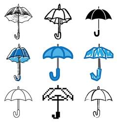 icons umbrella vector image vector image