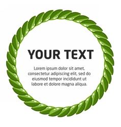 laurel wreath template vector image vector image