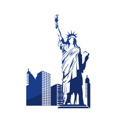 Liberty statue icon vector