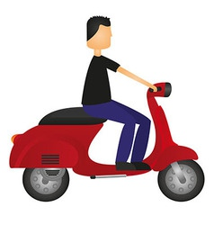 man on motorbike vector image