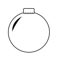 Merry christmas balls decorative card vector