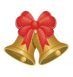 merry christmas bell decorative icon vector image