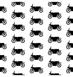 Motorcycle symbol seamless pattern vector