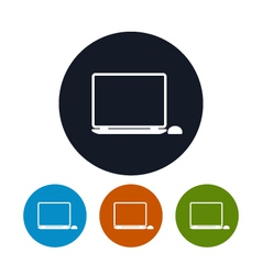 Notebook icon laptop icon vector image vector image