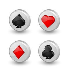 Playing card symbol icons vector