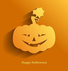 pumpkin smile vector image vector image