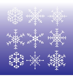 snowflakes styles eps10 vector image vector image