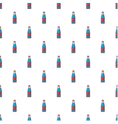 Soda bottle pattern seamless vector