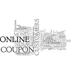 What you should know about your online coupons vector