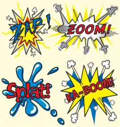 comic book zapzoom splat kaboom vector image